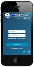Application NeoResto Manager sur iPhone et Android